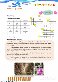 Interactive worksheet Orchid