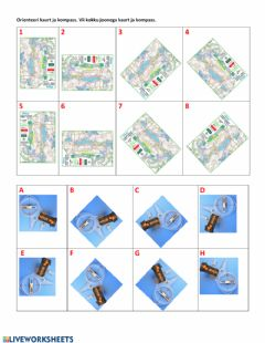 Interactive worksheet Orienteerumine