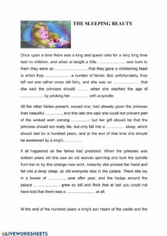 Interactive worksheet The sleeping beauty