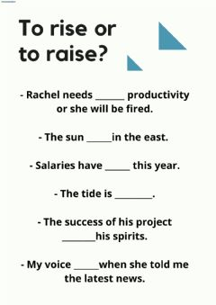 Interactive worksheet To rise-to raise
