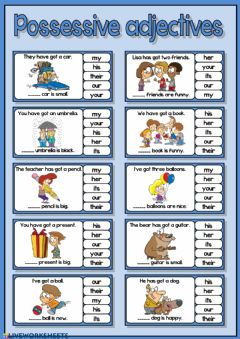 Interactive worksheet Possessive adjectives
