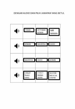 Interactive worksheet Listening