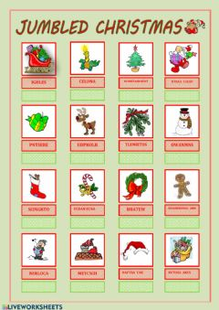 Interactive worksheet Jumbled X-mas
