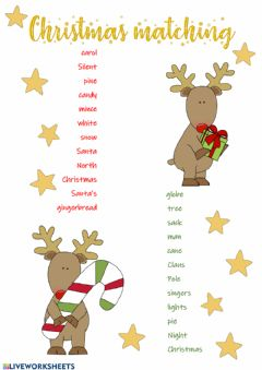 Interactive worksheet Christmas Matching