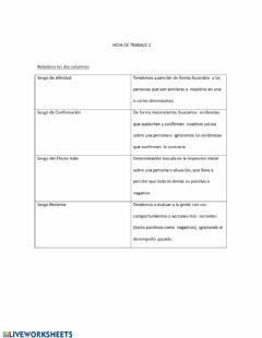 Interactive worksheet Sesgos Inconscientes 2