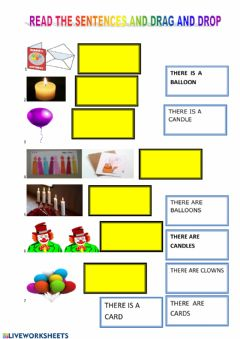 Interactive worksheet Birthday vocabulary