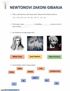 Interactive worksheet Radionica