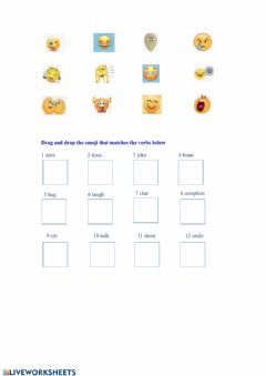 Interactive worksheet Verbs - attitude and communication