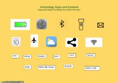 Interactive worksheet Technology Signs and Symbols