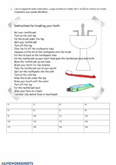 Interactive worksheet Instructive text