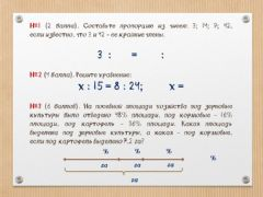 Interactive worksheet С.р. Пропорции, проценты №1-3