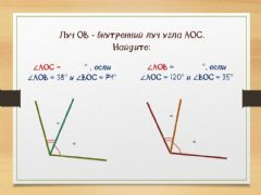 Interactive worksheet Углы - 7