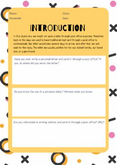 Interactive worksheet Introduction to Personal Letters