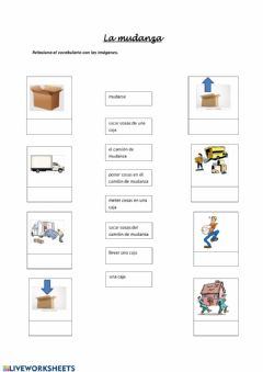 Interactive worksheet La mudanza