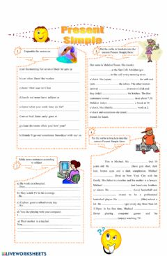 Interactive worksheet Present tense posıtıve forms