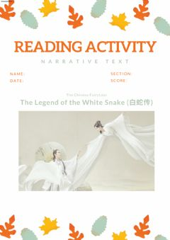 Interactive worksheet The Legend of White Snake