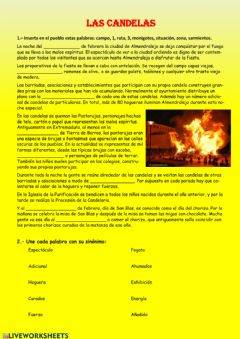 Interactive worksheet Las Candelas
