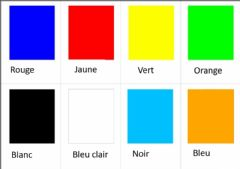 Interactive worksheet Couleurs (français)