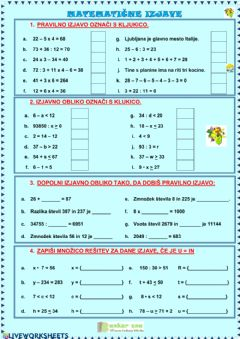 Interactive worksheet Izjave