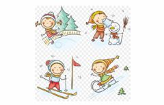 Ficha interactiva Winter activity