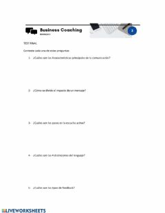 Interactive worksheet Test final modulo 3 bc