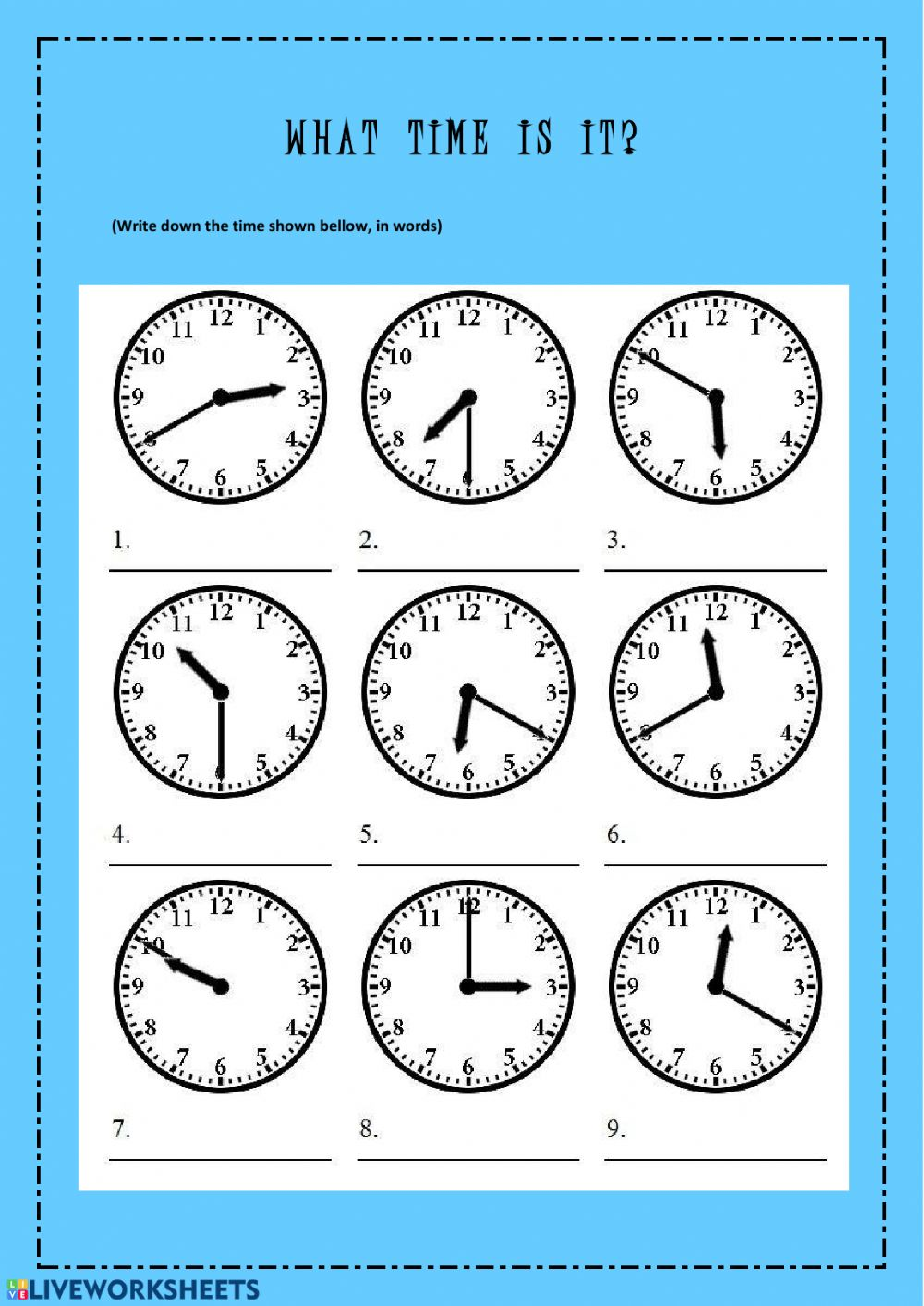What time is it interactive activity