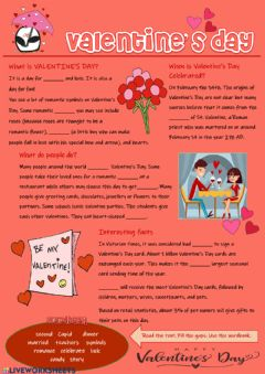 Valentine's Day worksheet preview