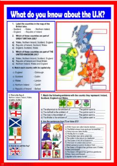Interactive worksheet What do you know about the UK?