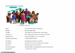Interactive worksheet La familia de Coco