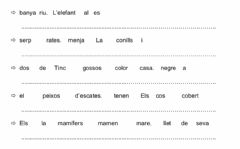 Interactive worksheet Put the sentence in order