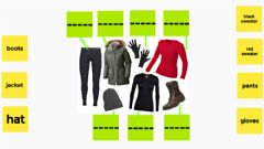 Interactive worksheet Clothes for cold weather