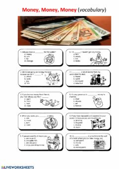 Interactive worksheet Money