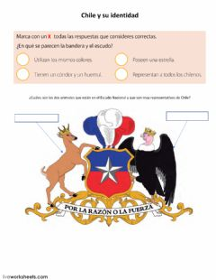 Interactive worksheet Chile y su identidad