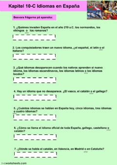 Interactive worksheet Kapitel 10C - uppgift 1 - åk 8