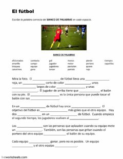 Interactive worksheet El fútbol
