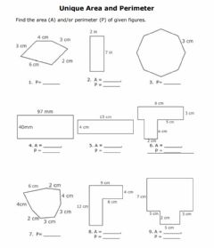 Interactive worksheet Areas of polygons