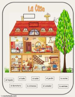Interactive worksheet La casa