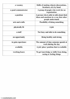 Interactive worksheet Jobs and interviewing