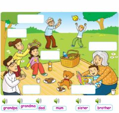 Ficha interactiva Family words