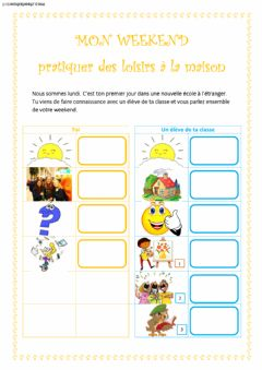Interactive worksheet In het weekend