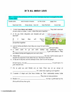 Interactive worksheet Love Idioms