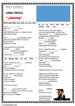 Interactive worksheet Song -Amazing- by George Michael