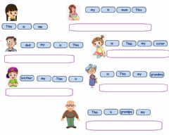 Interactive worksheet This is my family