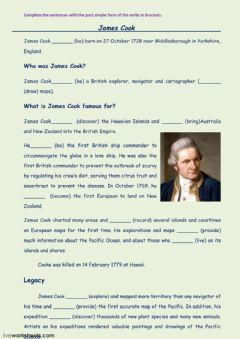 Interactive worksheet James cook