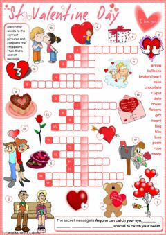 Interactive worksheet St Valentine's Day