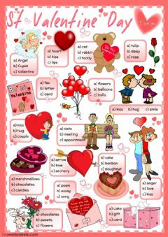 St Valentine's Day - multiple choice worksheet preview