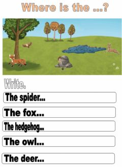 Interactive worksheet Countryside.Where is the...?