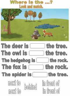 Interactive worksheet Countryside.Where is the...? Drag and drop