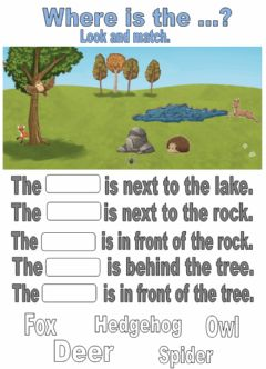Interactive worksheet Countryside. Where is the...? Drag and drop