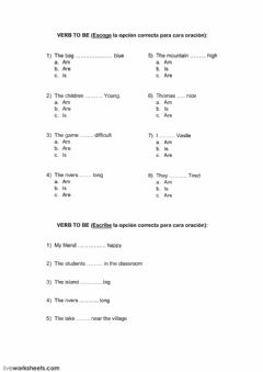 Interactive worksheet To be